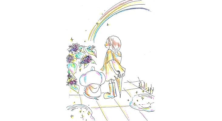 【夏】あじさい&虹① - コピー