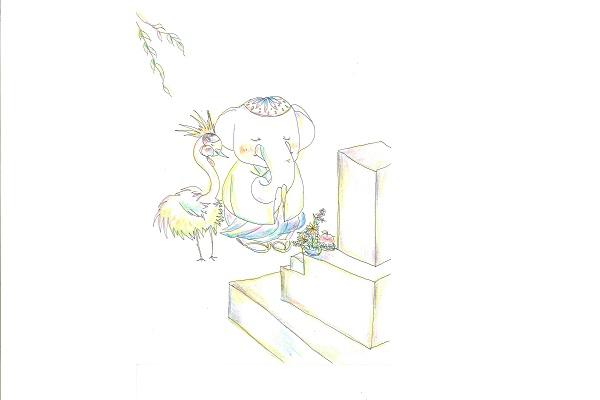 【フリー】お墓参り - コピー