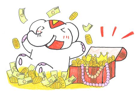 10月25日(水)は金運増大!【一粒万倍日】だゾウ!