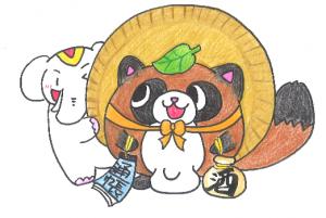 商売繁盛・金運向上の【たぬき】だゾウ!!