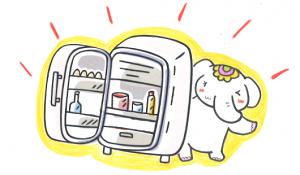 【冷蔵庫】をキレイにして金運アップだゾウ