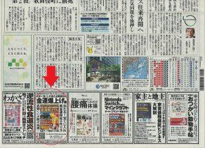 『読売新聞』1面に【金運爆上げ術】の本がPRされています。