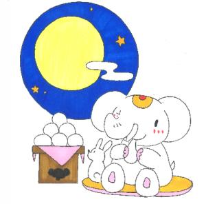 金運アップ待ち受け!【十三夜】のお月見で運氣アップだゾウ!!