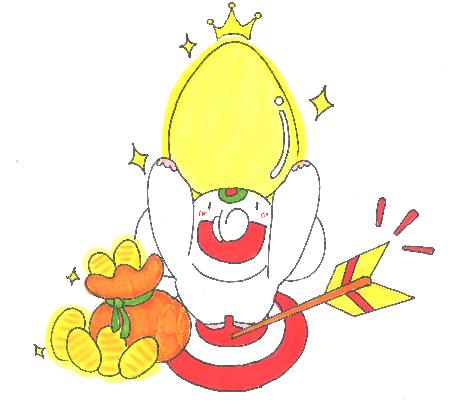 【金の卵】待ち受け|金の卵の夢を見たら、宝くじ当せんのチャンス!!だゾウ♪