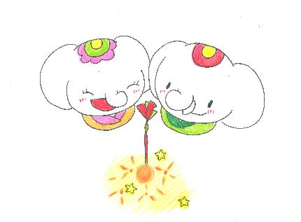 金運アップ待ち受け!【線香花火】で金運アップ!だゾウ♪